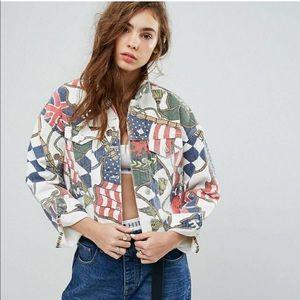 💥TOMMY Flag Print Denim Jacket